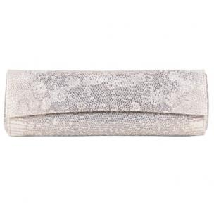 Zelli Isabella Genuine Ring Lizard Clutch Natural Image