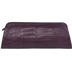 Zelli Kate Genuine Alligator Clutch Purple Image