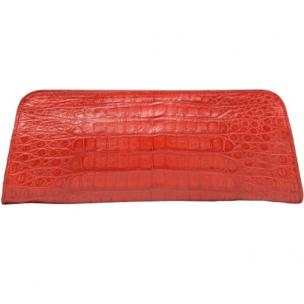 Zelli Kate Genuine Alligator Clutch Red Image