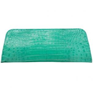 Zelli Kate Genuine Alligator Clutch Turquoise Image