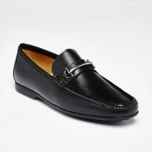 Zelli Leone Bit Driving Shoes Black Image