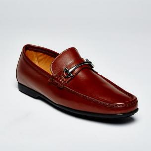 Zelli Leone Bit Driving Shoes Brown Image