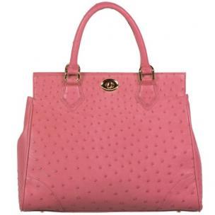Zelli Mila Genuine Ostrich Handbag Carnation Pink Image
