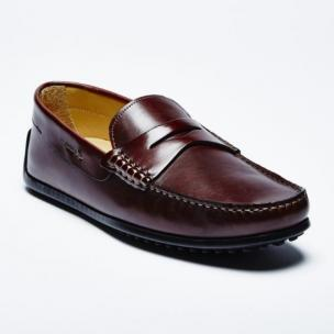 Zelli Monza Calfskin Driving Loafers Brown Image