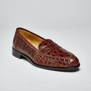 Zelli Palm Beach Crocodile Slip-On Cognac Image