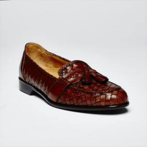 Zelli Woven Loafers Brown Image