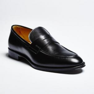 Zelli Roma Apron Toe Penny Loafers Black Image