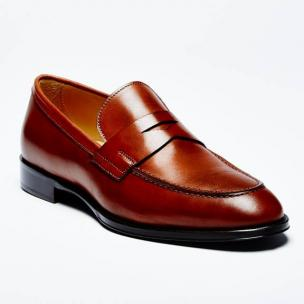 Zelli Roma Apron Toe Penny Loafers Rust Image