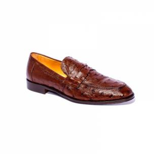 Zelli Roma Ostrich Quill Penny Loafers Brown Image