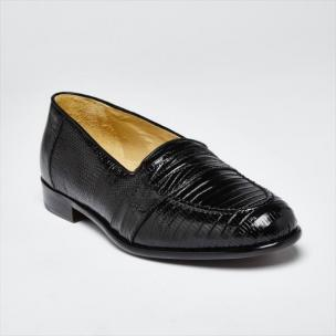 Zelli Rossi Genuine Lizard Slip-On Black Image