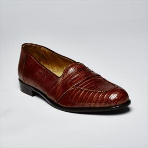 Zelli Rossi Genuine Lizard Slip-On Cognac Image