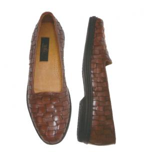 Zelli Marcello Woven Loafers Brown Image