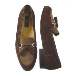 Zelli Salvatore Suede Tassel Loafers Brown Image