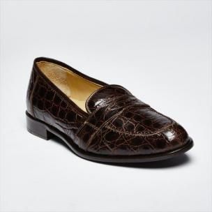 Zelli Tuscany Crocodile Penny Slip-On Brown Image