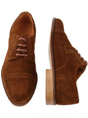 Zelli Sorrento Cap Toe Lace Up Brogue in Rust Image